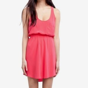 Aritzia Wilfred Pink 100% Silk Pink Dress